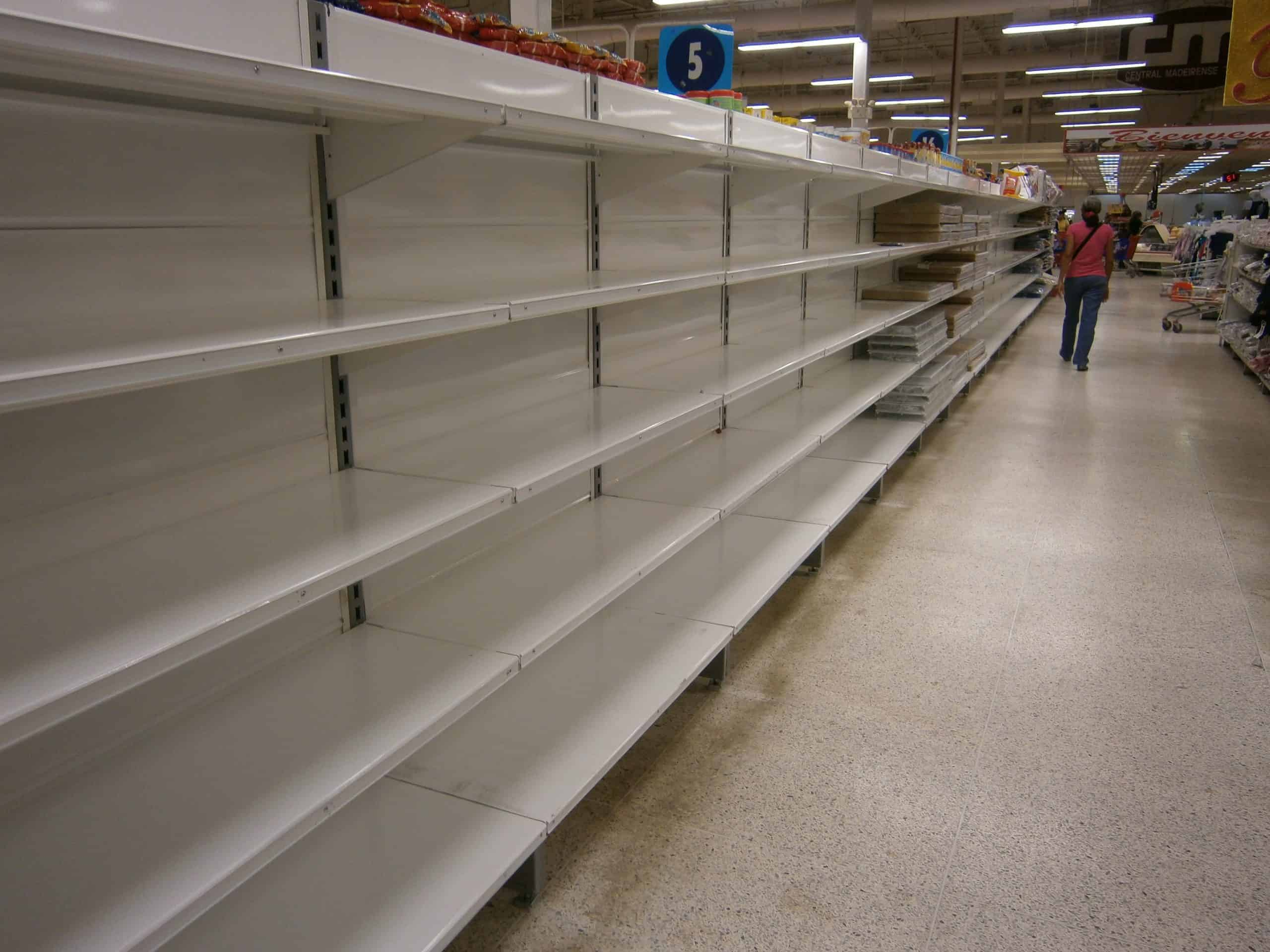 Image of empty shelves to illustrate post: Intel Shortages Continue